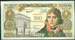 100 NOUVEAUX FRANCS SUR 10 000 FRANCS BONAPARTE du 30/10/1958 ETAT TTB+