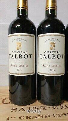 3 bouteilles CHATEAU TALBOT 2016 saint julien