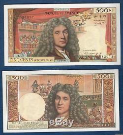 500 Nouveaux Francs Molière Type 1959 2-1-1964 S. 15 SPL (2trous)