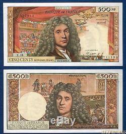 500 Nouveaux Francs Molière Type 1959 2-1-1964 T. 16 (13) SUP ++++