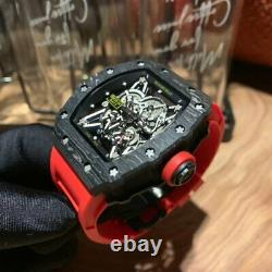 AUTOMATIC Skull Carbon case Watch Hand Winding Movement RM535-02