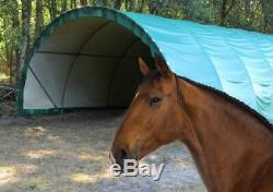 Abri Tunnel chevaux stockage 6m x 6m avec bâche camion 720g/m² direct fabricant