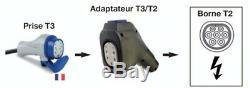 Adaptateur T3/T2 neuf Renault pour voitures électriques Zoé, Kangoo
