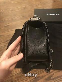 Authentique sac Chanel /Cuir caviar de veau