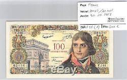 BILLET 100NF/10000 F-10000 F surchargé 100 Nouveaux Francs BONAPARTE 30/10/58