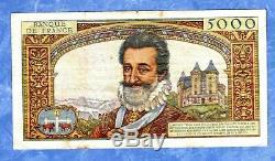 ++ BILLET 50 NOUVEAUX FRANCS sur 5000 FRANCS HENRI IV 30-10-1958 ++