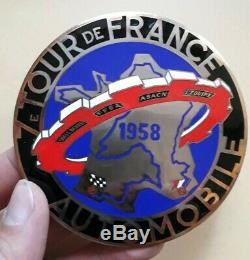 Badge Plaque Émaillée Tour De France Automobile 1958