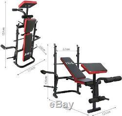 Banc de Musculation Multifonction Abdominaux Entraînement Complet Fitness Sport