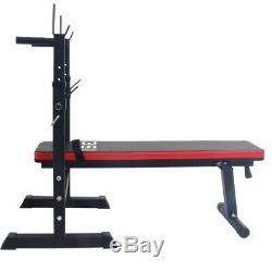 Banc de Musculation Pliable Abdominaux Haltères Entraînement Fitness Sport