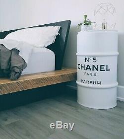 Baril décoration personnalisé CHANEL N°5 PARIS PARFUM NOIR