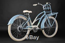 Beachcruiser 26 Kahuna Bleu 6 Vitesses TC 40 cm Cruiser KS Cycling 768B