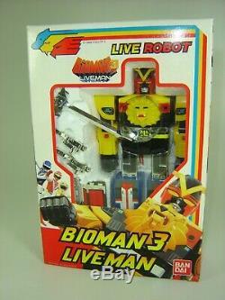 Bioman 3 Liveman Boite France Bandai Popy 1988 Neuf Jamais Ouvert