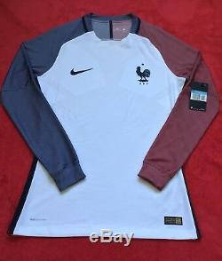Bnwt Nike Fff Maillot Equipe France 16/17 Ls Pro Stock Player Issue Match, Large