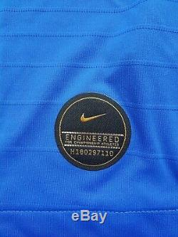 Bnwt Nike Fff Maillot Equipe France Centenaire 10 Mbappe Player Issue M Or XL