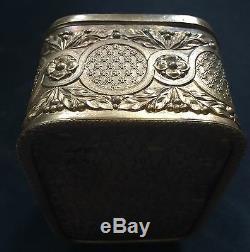 Boite Art-nouveau Hivers Verre Biseauté Femme Laiton XIX Jewels Box Glass