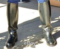Bottes Weston French Police Boots Mollet XL Calf Eu41 Us8 Uk7.5 Rob Leather Bluf