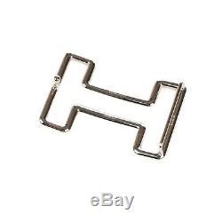 Boucle ceinture Hermès modèle Tonight en argent palladié, état neuf