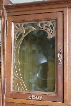 Buffet/Vaisselier Art Nouveau, Art Deco, maison Krieger Paris (1900)