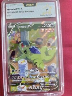 CARTE pokemon TYRANOCIF V full art ultra rare NEUF 155/163 FA PCA 9 Mint
