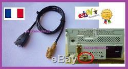 Cable AUX USB POUR SEAT SKODA VW RCD300 RCD510 de france