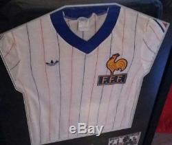 Cadre maillot préparé et porté par l'équipe de France 1983 (match worn)