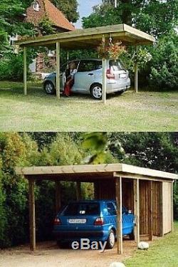 Carport Abri Auto 3 à 9m Hauteur jusqu'a 3m Voiture Van Camping BELGIQUE FRANCE