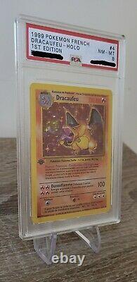 Carte Pokémon Dracaufeu 4/102 edition 1 psa8