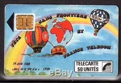 Carte Telephonique F17 Lyon Fete Sans Frontiere Montgolfiere Etat Luxe Rare