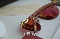 Cartier Lunette Bengali Bubinga Nos 135 Rare Giverny C Decor Vintage Bubinga