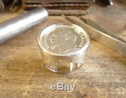 Chevalière argent ronde avec pièce de 1 Franc Napoléon III