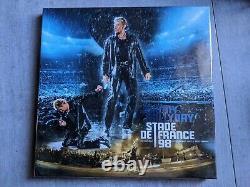 Coffret NEUF SCELLE 4 LP COULEURS Johnny Hallyday Stade de france 98