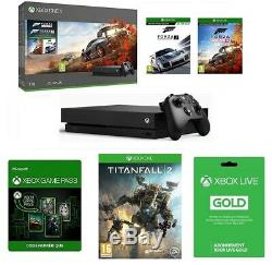 Console Microsoft Xbox One X 1 To + 3 Jeux + Xbox Live + Game Pass Neuve