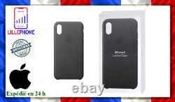 Coque Apple En Cuir Leather Case Noir Pour Apple Iphone X Xs Neuf Originle