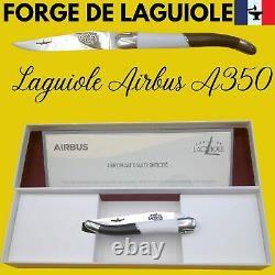 Couteau Forge De Laguiole France Airbus A350 20.5cm Fibre Carbone Collection