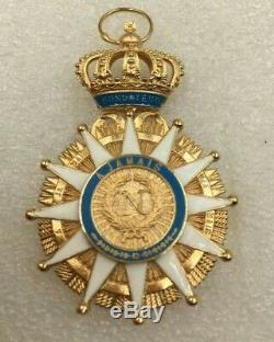 Croix de l'Ordre de la Réunion 1811 avec ruban bleu ciel Belle Reproduction