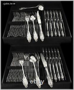 DEBAIN Sublime Ménagère avec Couteaux Argent massif ART NOUVEAU Coffrets 73pcs