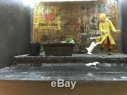 Diorama Box TINTIN le crabe aux pinces d'or no Pixi Aroutcheff Leblon