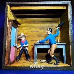Diorama TINTIN TINTIN EN AMERIQUE no Pixi Aroutcheff Leblon