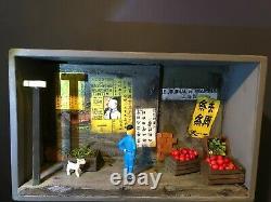 Diorama box TINTIN le lotus bleu no Pixi Aroutcheff Leblon