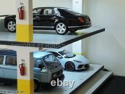 Diorama parking à étages 1/18