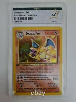 Dracaufeu Ed. 1 4/102 Wizards Set de base PCA 10+ 1ère de France