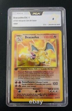 Dracaufeu set de base Edition 1 / 4/102 / Wizards Gradé PCA 8 Excellent Neuf