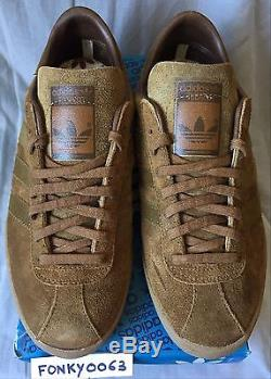 Ds Original Adidas Tobacco Brown Sneakers Terrace Collector Made In France Uk6,5