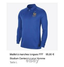 (Édition Limitée) Maillot FFF Équipe De France Centenaire Nike 2 Étoiles S