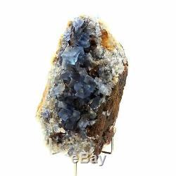 Fluorite bleu. 1065.0 ct. Mine de Padiès, Tarn, France. Ultra Rare