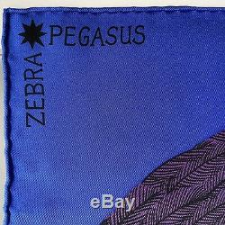 Foulard Hermès / Carré / Hermes Scarf / ZEBRA PEGASUS / A. Shirley