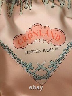 Foulard Hermès intitulé GRONLAND neuf dans sa boîte première édition de 1982