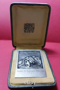 France Medaille Rallye Automobile Feminin Paris St Raphael 1930