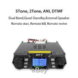 France QYT KT-980 Plus V/UHF 136-174/400-480Mhz 75W Radio Bande Double Mobile
