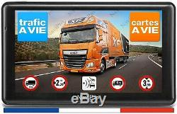 GPS Poids Lourd 7 Pouces NaviPro Camion Bus Camping Car Europe InfoTrafic A Vie
